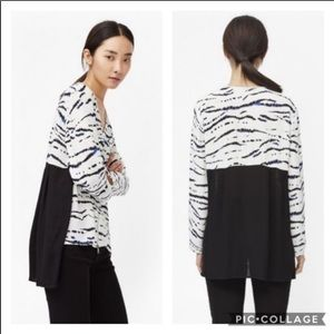 French connection crepe tapir wave tunic top M